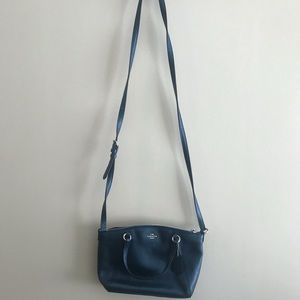 Coach blue metallic crossbody